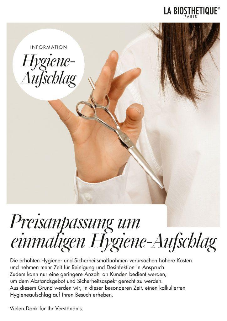 Hygiene-Aufschlag